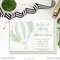 Printable Up Up and Away Boy Baby Shower Invitation Hot Air Balloon Invite Mint