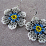 Flower Beaded Earrings
