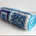 Crochet Baby Boy Blanket | Cradle | Pram | Cuddle | Hand Crocheted | Pure Wool