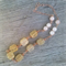 Hand Wired Copper Rose Quartz and Gemstone Necklace