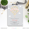 Printable Up Up and Away Girl Baby Shower Invitation Hot Air Balloon Invite Pink