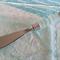 White and Soft Blue Sea Glass Pate Knife
