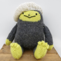 Finn the Hand Knitted Yeti Softie Toy with Jaunty Beret