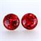 Red Glitter Christmas Earrings