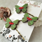 Butterfly Hair pins - Green and Red Christmas colours