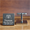 Engraved personalised square silver cufflinks - Star Wars, Darth Vadar