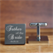 Engraved personalised square silver cufflinks - Father of the Bride