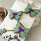 Butterfly Hair pins - Teal Green and Purple