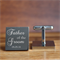 Engraved personalised square silver cufflinks - Father of the Groom