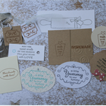 11 Assorted Handmade Gift Tags ~ Baked Goods ~ Christmas in July ~ Ready to Post