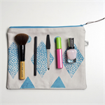 Large Zipper Pouch, Travel Organiser, Large Toiletry bag, Cosmetic bag.