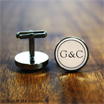Christmas gift for him - Couple monogram - Personalised cufflinks