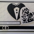 Hearts Wedding Card - Personalised