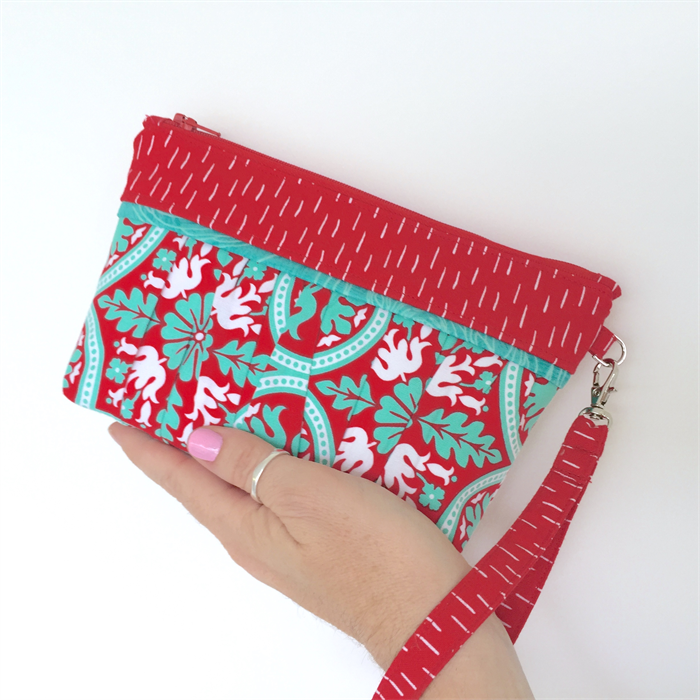 Gathered Lucky Dip Clutch: Red & Jade Mandela design with Jade & Red Trims | Annie Zorzo ...