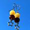 Hypoallergenic Stainless Steel Rainbow Jade Crystal Earrings with Star Charm