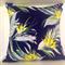 Indigo Bird of Paradise cushion cover