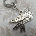 Silver Vintage Bird Keyring