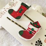 Red Christmas Stocking Hair clips