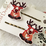 Rudolf the red nose reindeer Hair clips