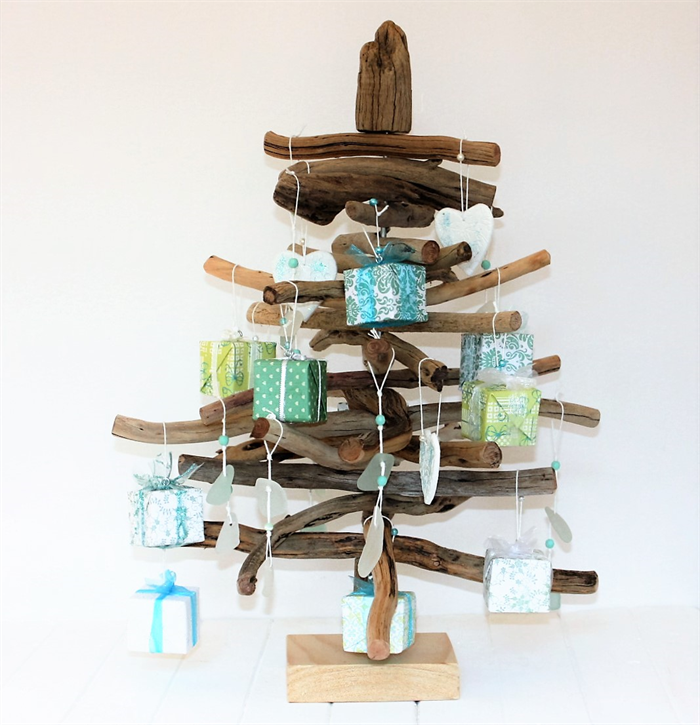 50 Cm Driftwood Beach Themed Christmas Tree Complete With
