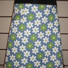 Blue & Green Daisy Skirt with Bamboo Stretch Waist