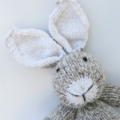 Soft Brow/Cream Hand Knitted Bunny Rabbit with Cute Big Ears