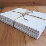 White Handmade paper, Recycled paper, Wedding paper, Writing paper, Art paper