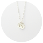 Initial Necklace | 2 Initial Pendant Necklace in Solid Sterling Silver by GR
