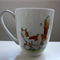 hand painted dog, mouse and cat mug