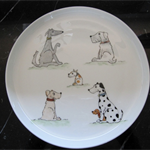 Hand painted dog plate