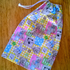 Small ABC Teddies Drawstring Bag for Kids