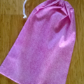 Small Pretty Pink Drawstring Bag for Kids