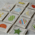 Memory Game - fabric memory set, shapes, unisex toy