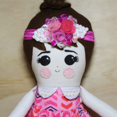 Pink princess cloth doll
