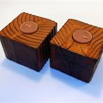 Wood Timber Tea light Holders (pair)