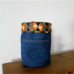 Fabric Storage Basket - Upcycled Jeans