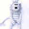 READY TO POST  'Lennon' the Sock Lion - grey and white stripes