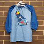 5 - 8 year old. Art smock with cement truck.