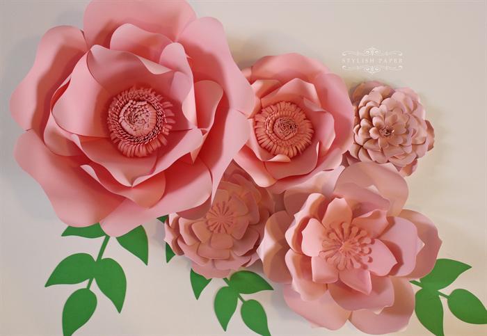 large pink flowers pink paper flower centerpiece paper flower