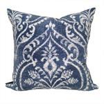 Dalusio Damask Cushion Cover in Indigo