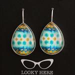 Kuta  ~ Teardrop Lever Back Earrings