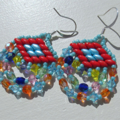 Indian Influenced Beaded Earrings