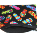 Mini Coin Purse with Bright and Colourful Thong Print **
