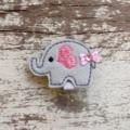"""1.5"""" Felt Elephant Hair Clip"""