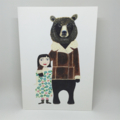 'Grizzly bear and friend'