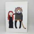 'Red panda and friend'