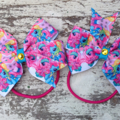 "3.5"" My Little Pony Bow Hair Ties Set"