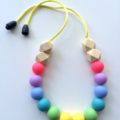 Washable Silicone Necklace for Kids - Mini-Fox Kids Range