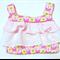 Pink ruffle girls top Size 1.