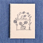 'Flower House' blank journal, sketchbook, notebook, scribble pad